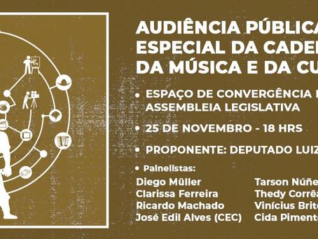 3ª Audiência Pública sobre música e cultura gaúcha será em Caxias do Sul