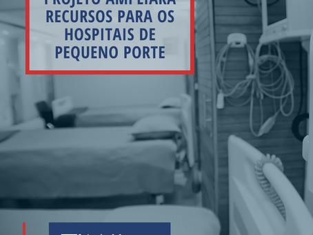 Projeto beneficia os hospitais de pequeno porte do estado