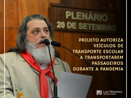 PL autoriza veículos de transporte escolar a transportarem passageiros durante a pandemia