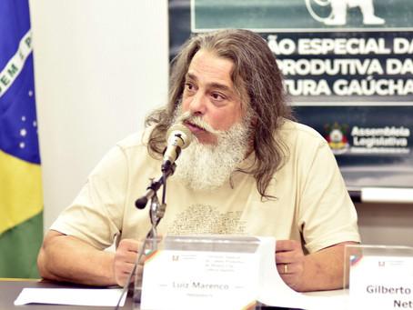 Deputado Luiz Marenco propõe linha de crédito para a cadeia produtiva da cultura