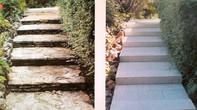 Réfection escalier en dalles