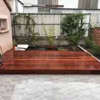 Confection terrasse en bois avec bacs incorporés