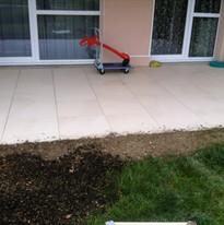 Création terrasse dalles sur plots