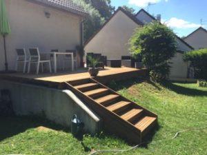 Terrasse et escalier en bois