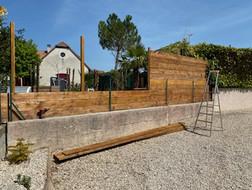 Clôture en planches de bois