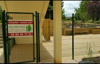 Portillon et clôture panneaux grillagés
