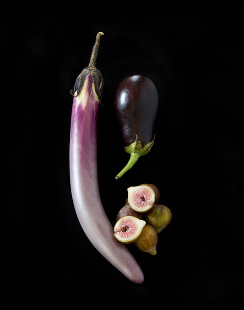 Still Life with Figs & Eggplant