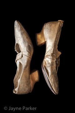Bessie's Gold Dancing Slippers