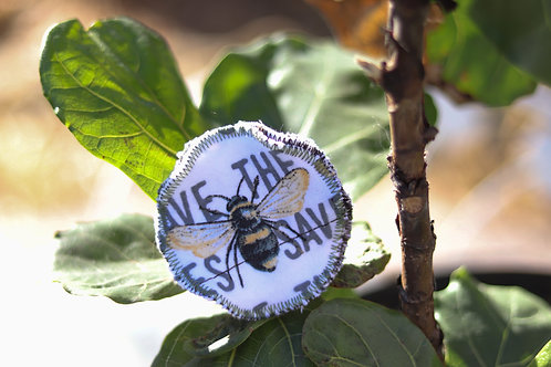 reusable cotton rounds: save the bees