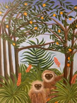 2 Monkeys with Oranges