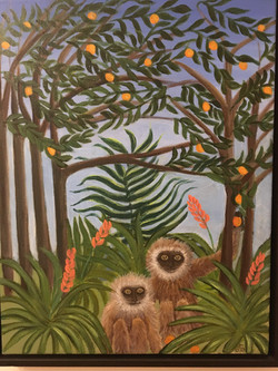 Two Monkeys with Oranges