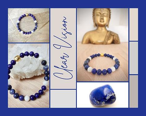 Clear Vision  met Lapis Lazuli, Sodaliet en Maansteen.