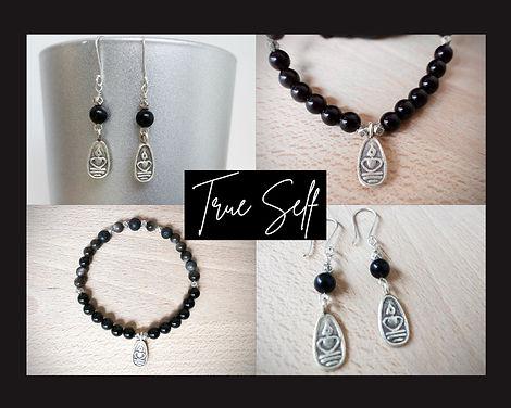 True Self met Obsidiaan, Lavasteen en Karen Hill Tribe zilver uit Thailand.