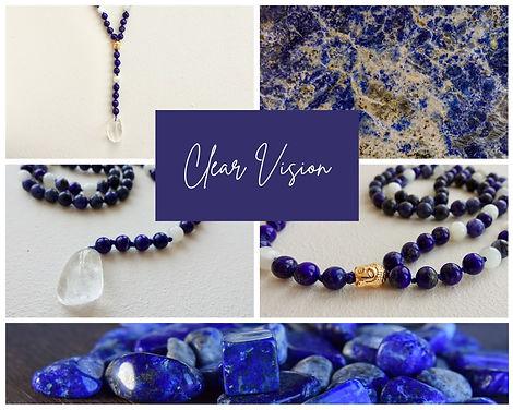 Mala Clear Vision met Lapis Lazuli, Sodaliet en Maansteen.