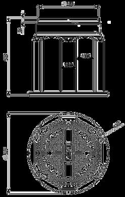 Схема пластикового колодца КС-1