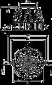 Схема пластикового колодца КС-3