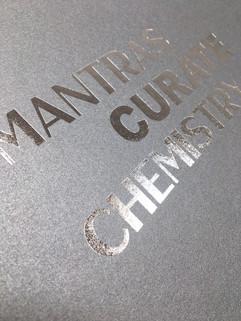 Stampa a caldo argento su materiale tecnico