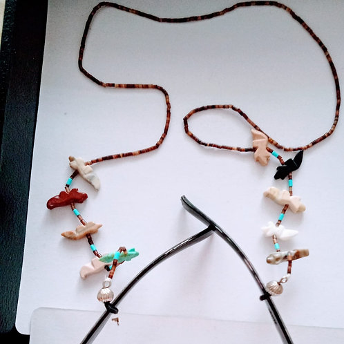 multi stone carving GLASSES HOLDER necklace