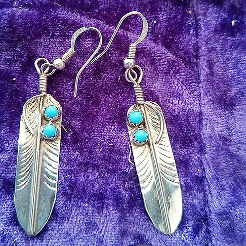 Earrings full of light! Silver & turquoise