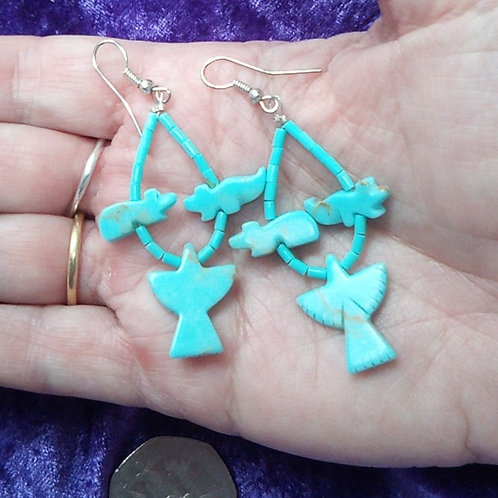 Eagle, Bear & Wolf earrings