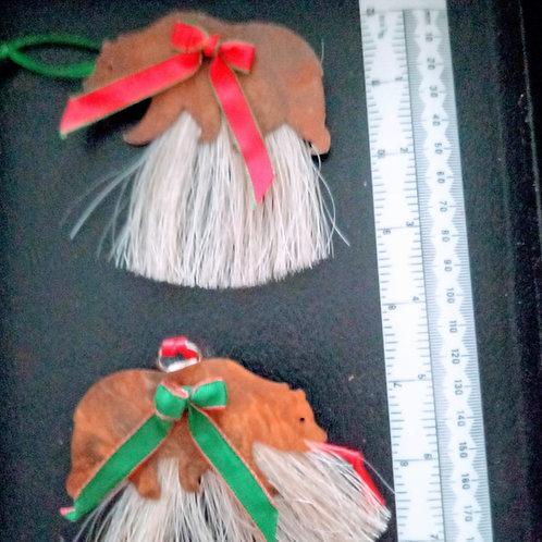 Bear ornament with horse hair