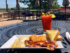 Enjoy a house-made bloody mary and breakfast on the patio