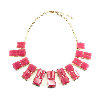 The Decora Necklace in Fuchsia Pink
