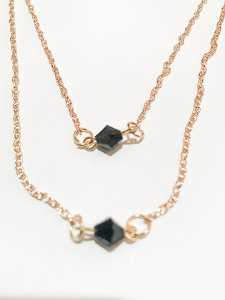 Double Black Stone Necklace