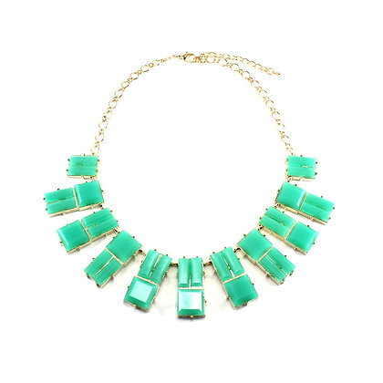 The Decora Necklace in Teal Green