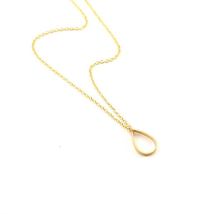 The Gold Teardrop Necklace