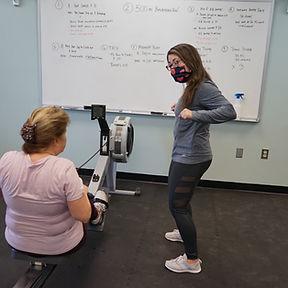 Jacquelyn Training Her Mom Rower.JPG