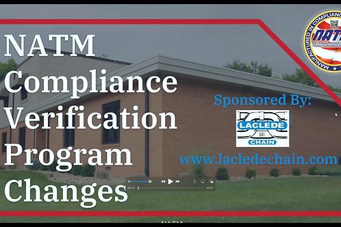 Compliance Verification Program Changes - 2021