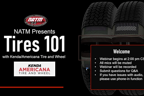 NATM Presents Tires 101 With Kenda