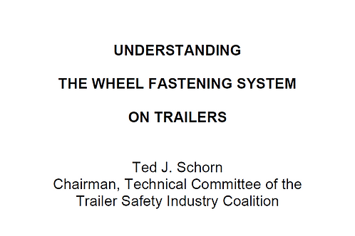Understanding The Wheel Fastening System On Trailers
