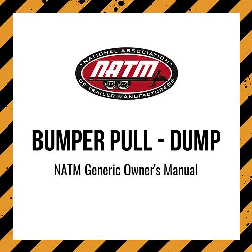 Generic Owner's Manual - Bumper Pull Dump