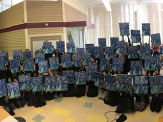 300 Students Painting in 3 Days