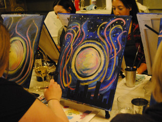SUPERMOONRISE Paint Party in Port Moody, BC