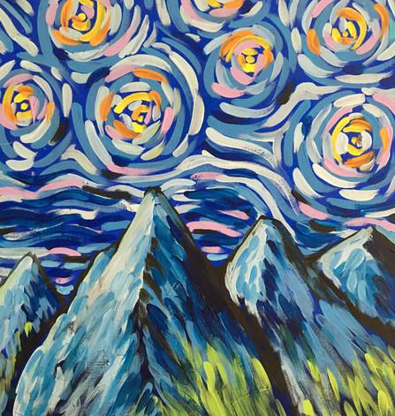 Swirly-Skies Mountain