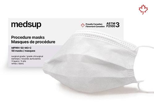 Masque de procédure médical Niveau 3 - Blanc