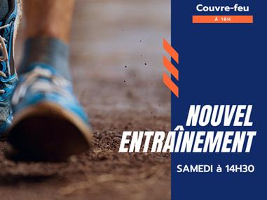 NOUVEL ENTRAÎNEMENT - SAMEDI 14H30