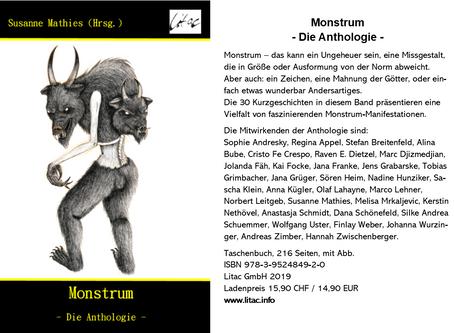 """Anthologie """"Monstrum"""" - Flyer"""