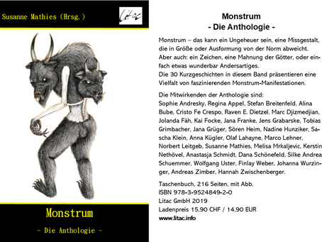 "Anthologie ""Monstrum"" - Flyer"