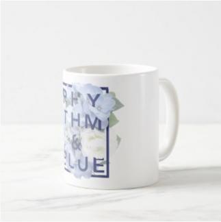 Floral Logo Mug: Customizable