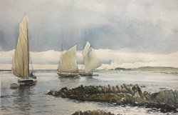 Early Fishing Boats, Currie Harbour