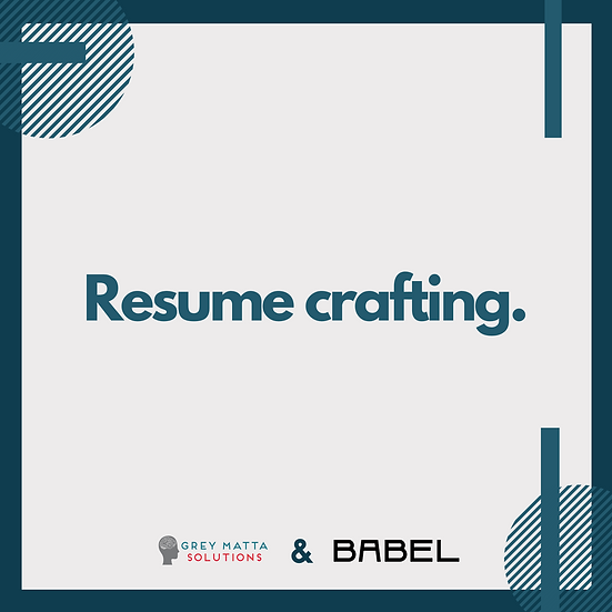 Resume Crafting
