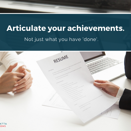 Resumé Tips #2 – Action vs Achievement