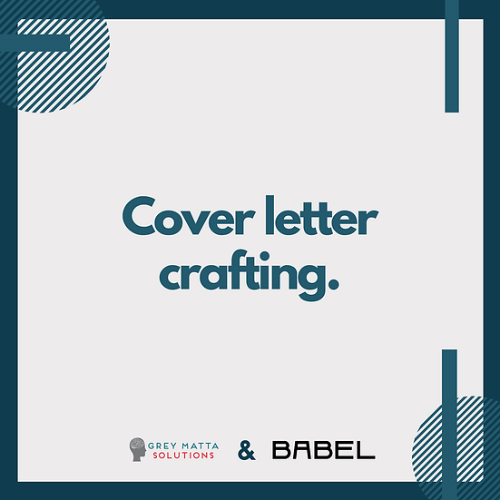 Cover Letter Crafting