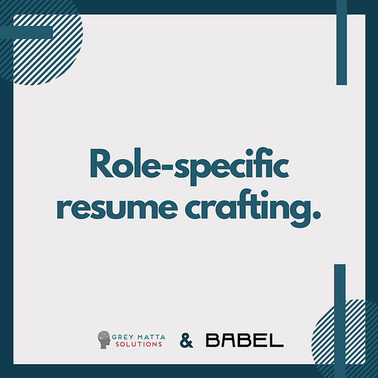 Role-Specific Resume Crafting