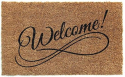 Welcome printed natural coirmat