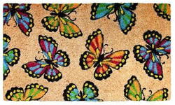 Multicolor Butter Fly natural coir mat
